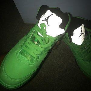 Jordan Shoes | Jordan 5s Green | Poshmark